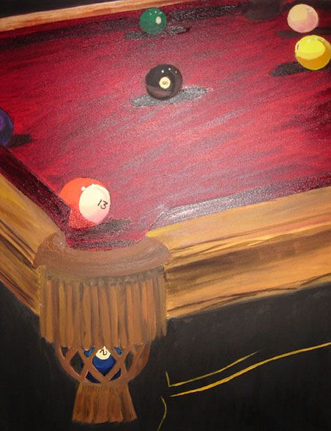 Pool Table Painting I Want To Paint This Pinterest Art Spaces - Pool table painting
