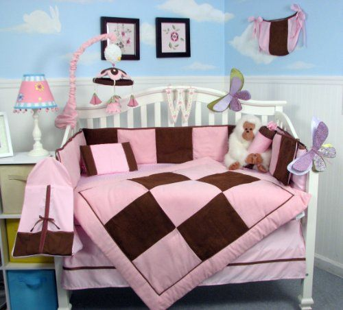SoHo Pink and Brown Suede Baby Crib Nursery Bedding Set 13 pcs included Diaper Bag with Changing Pad & Bottle Case SoHo Designs http://www.amazon.com/dp/B00BF1AXEG/ref=cm_sw_r_pi_dp_vdS1tb0SHJVJFV04