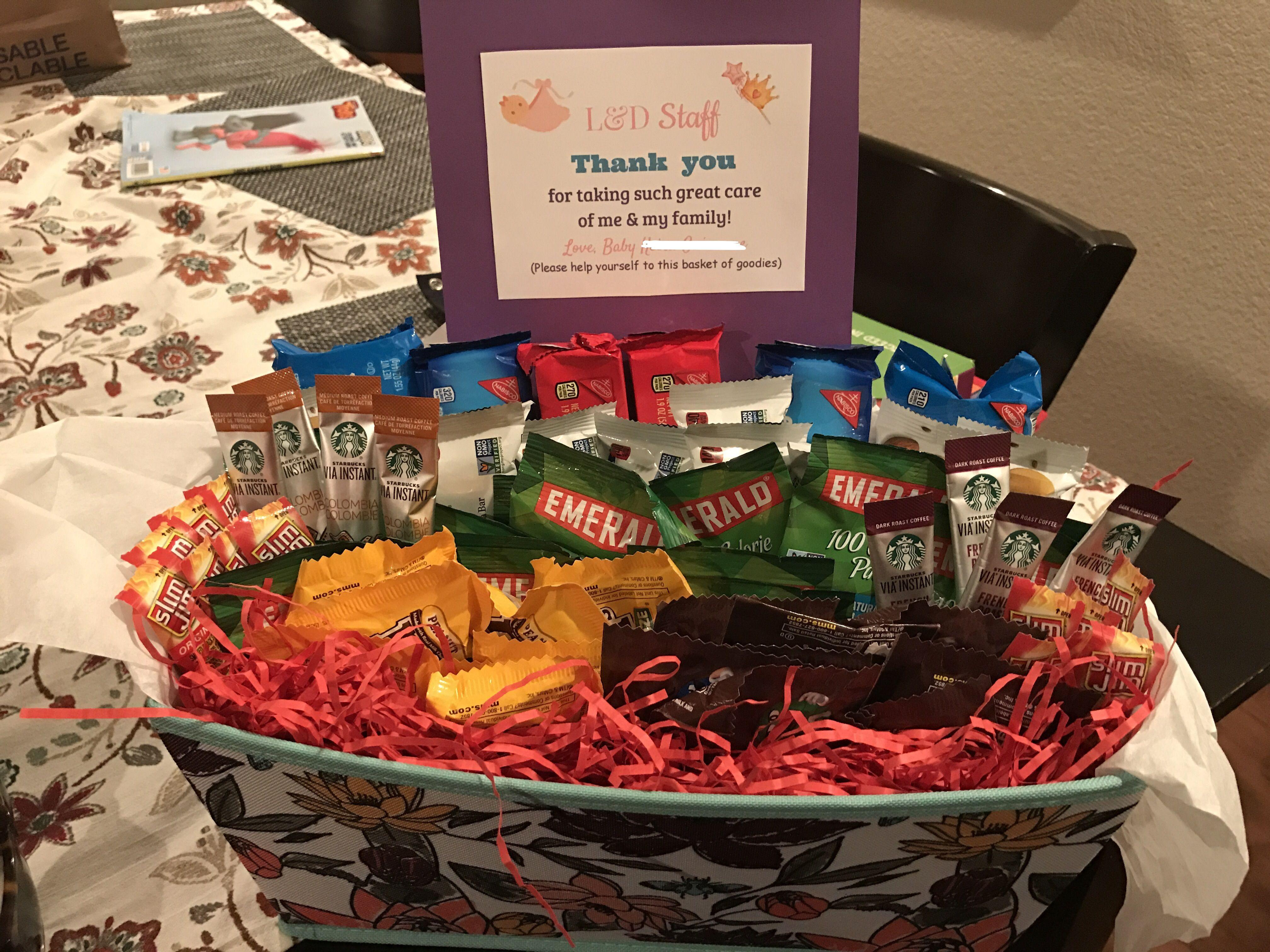 Labor and delivery basket nurse appreciation delivery