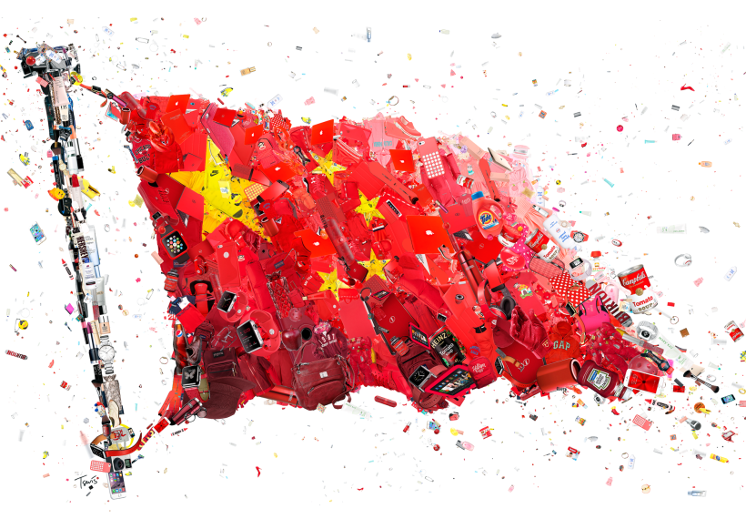 Why Alibaba Wants Chinese Shoppers To Buy American Chinese Flag China Flag Editorial Illustration