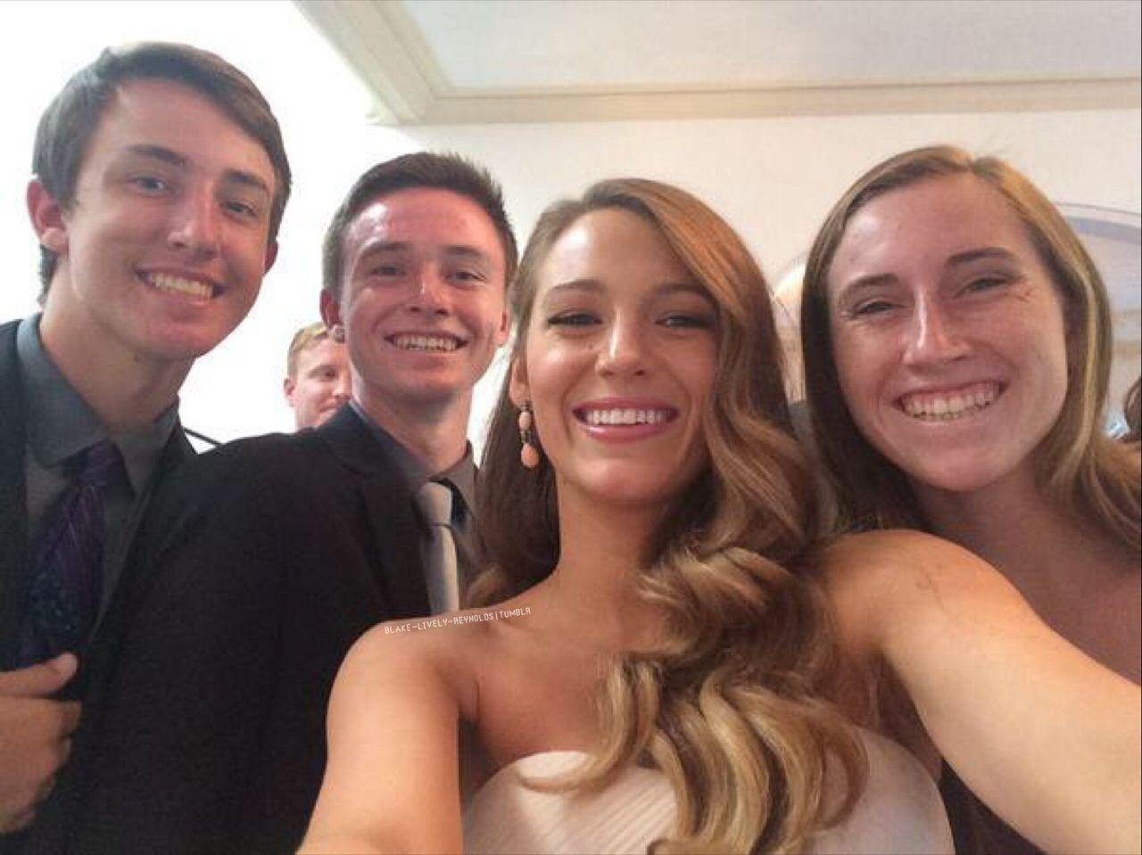 Blake as bridesmaid