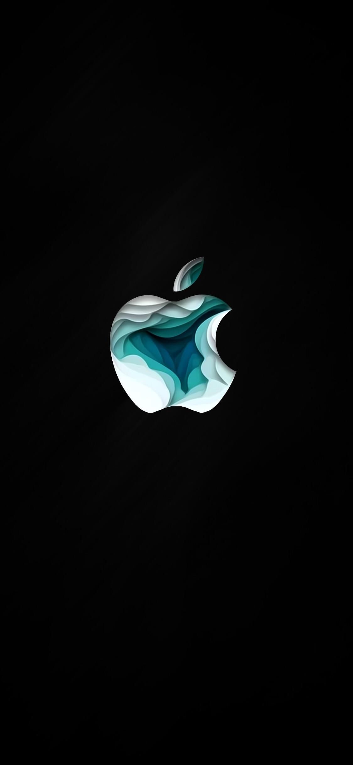 Apple Special Event Logo. True Black. #blackwallpaperiphone