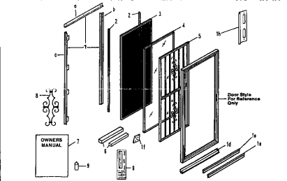 Sliding screen door parts screened porch pinterest for Screen door replacement parts