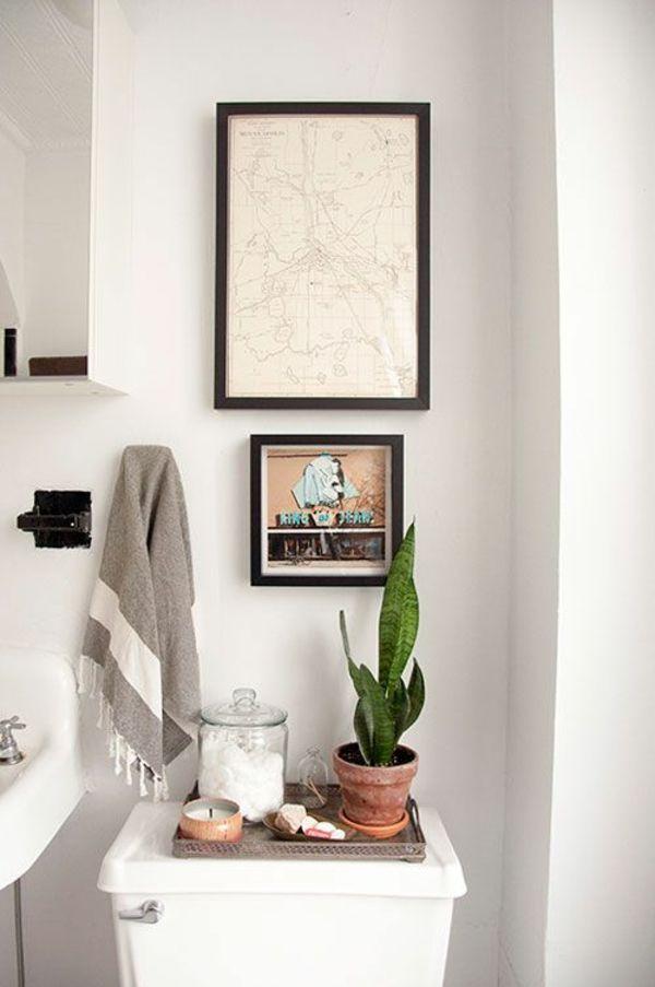 Kleines Bad Einrichten Zimmerpflanzen Deko Ideen