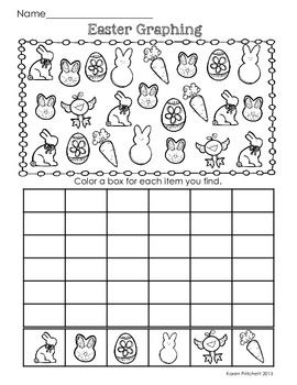 Easter Math Graphing Missing Number Counting On Ten Frames Easter Math Graphing Worksheets Spring Math