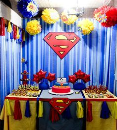 Superman Birthday Decorations My Birthday Pinterest Superman