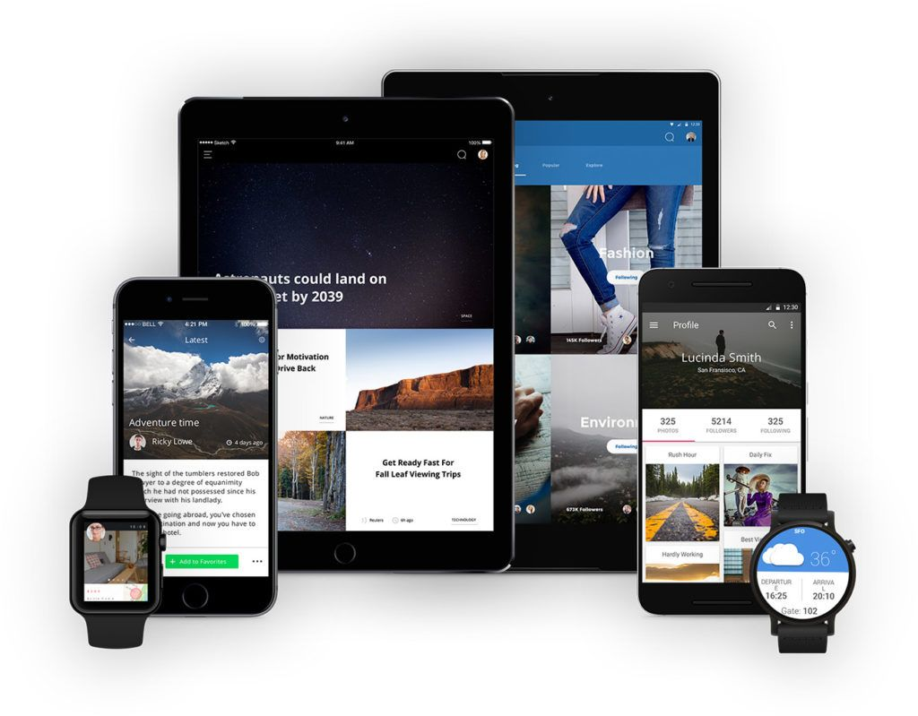 Crossplatform application development and run your app