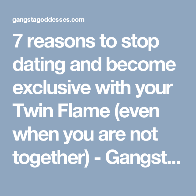 when to stop dating