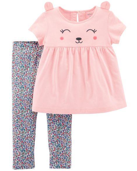 2 Piece Bear Top Floral Legging Set Matthyew Rileigh Pinterest