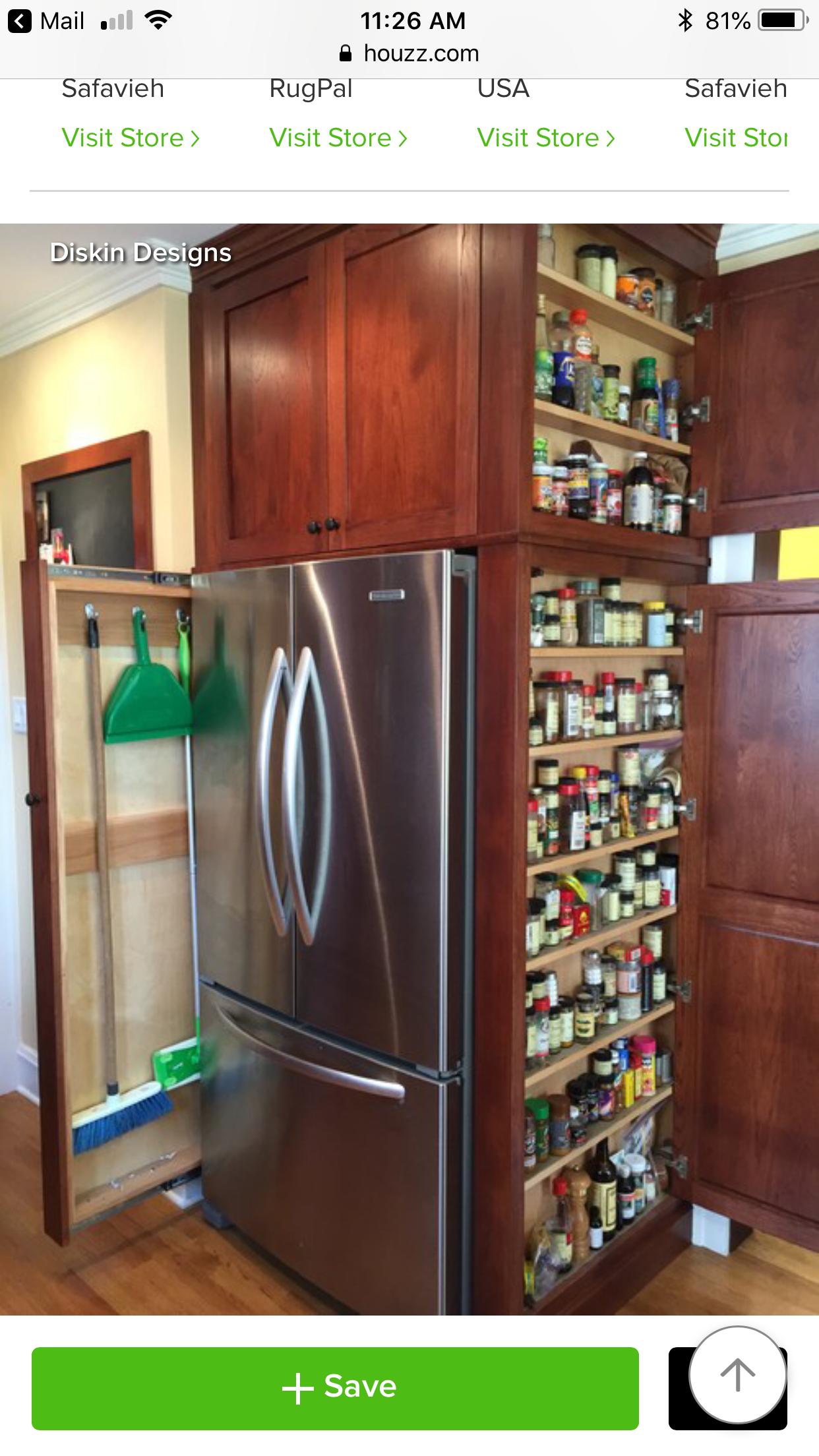 Pin By Carl Ford On House Kitchen Storage Organization Diy Interior Design Kitchen Small Kitchen Design