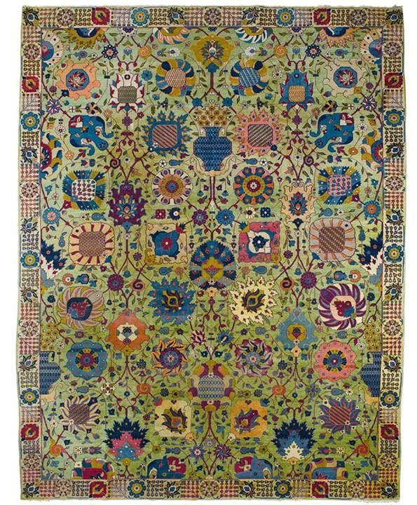 Modern Persian Tabriz Design Rug 44687 Nazmiyal Antique Rugs: Persian Gardens & Courtyards In