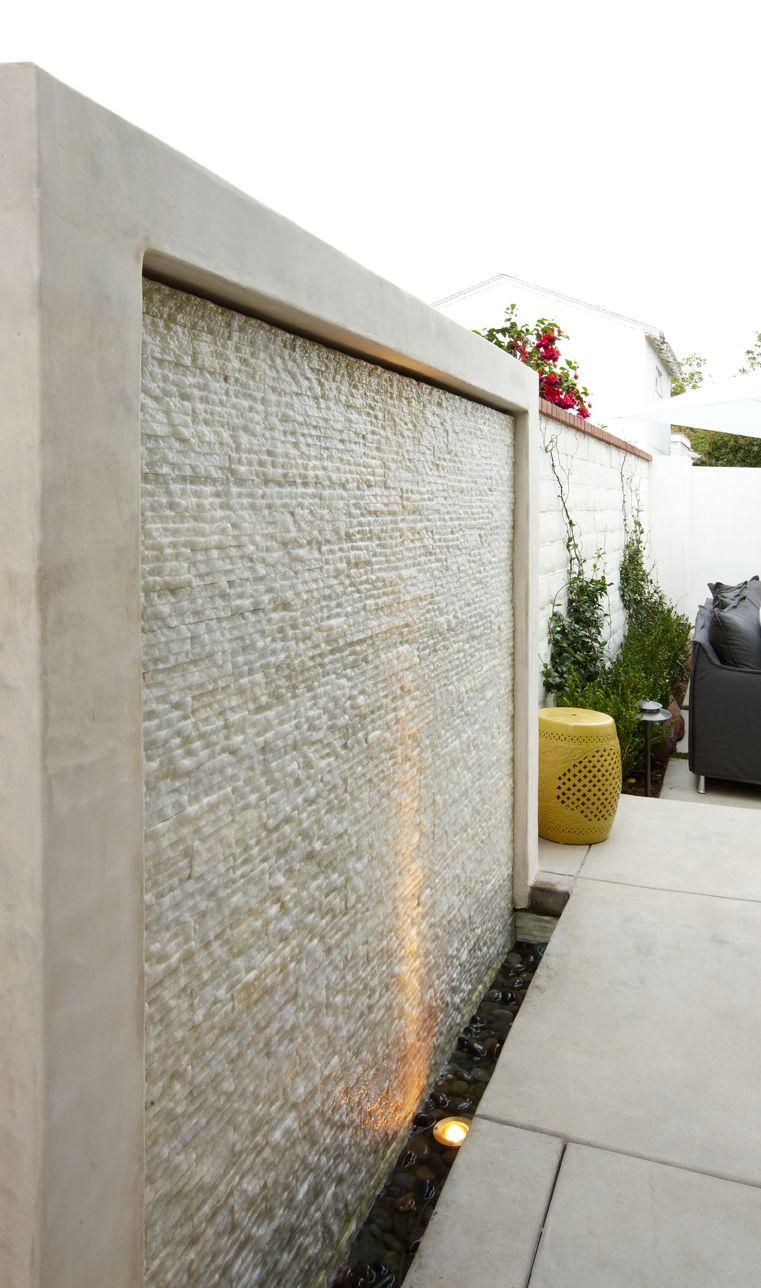 Cream pencil stone mosaic tile water walls stone mosaic for Backyard water wall ideas