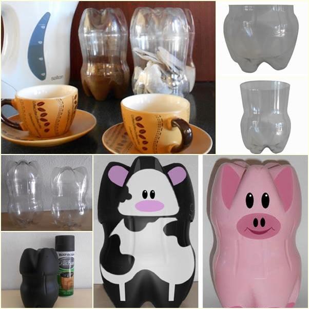 Plastic bottle owl craft a fun recycle piggy banks for Plastic bottle piggy bank craft
