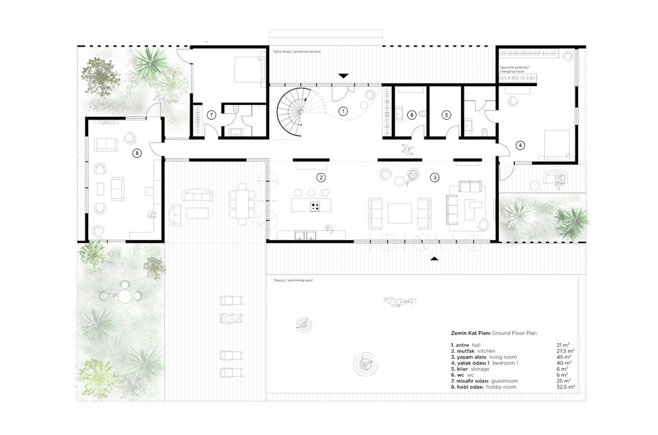 Akcakoca Summer House Slasharchitects Summer House Floor Plans Architecture Plan