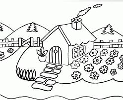 Resultado de imagen para dibujos de paisajes para colorear