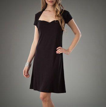 Short Sleeve Ballerina Neck Dress