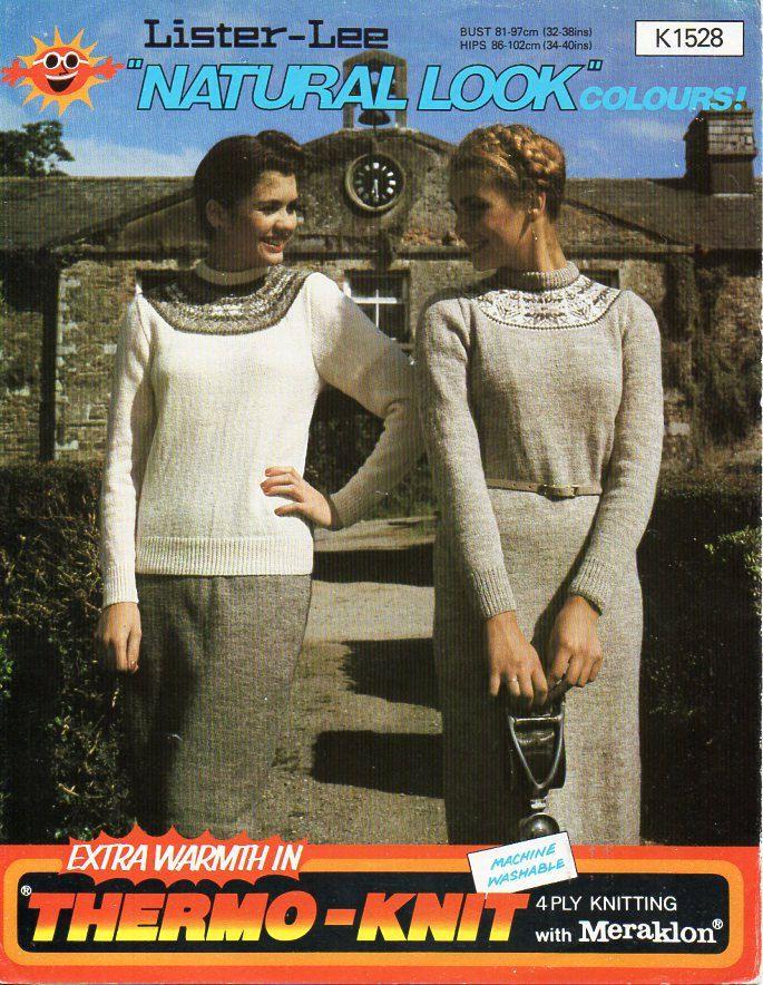 ladies fairisle dress sweater skirt knitting pattern fair isle ...