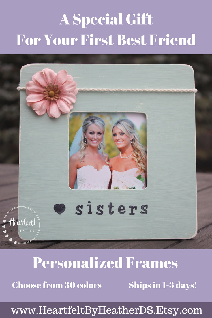 Sister Gift Personalized Picture Frame Personalized Sister Gift