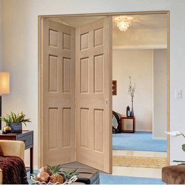 Thrufold colonial oak panel folding door no raised mouldings lifestyle also two doors  frame kit rh pinterest