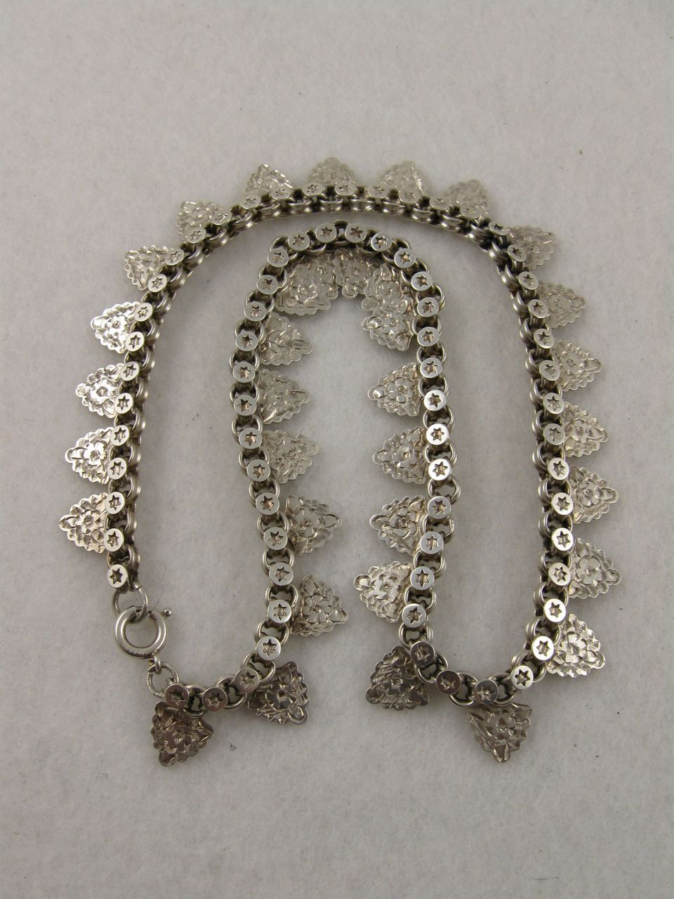 Antique Victorian 'Leaf & Stars' Fringe Collar Necklace Chain. A current favourite! $325