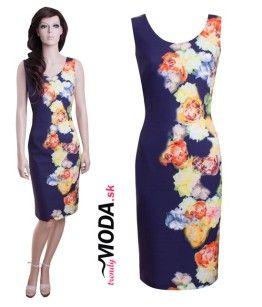 483a07f17 Letné dámske šaty s pestrou potlačou farebných kvetov - trendymoda ...