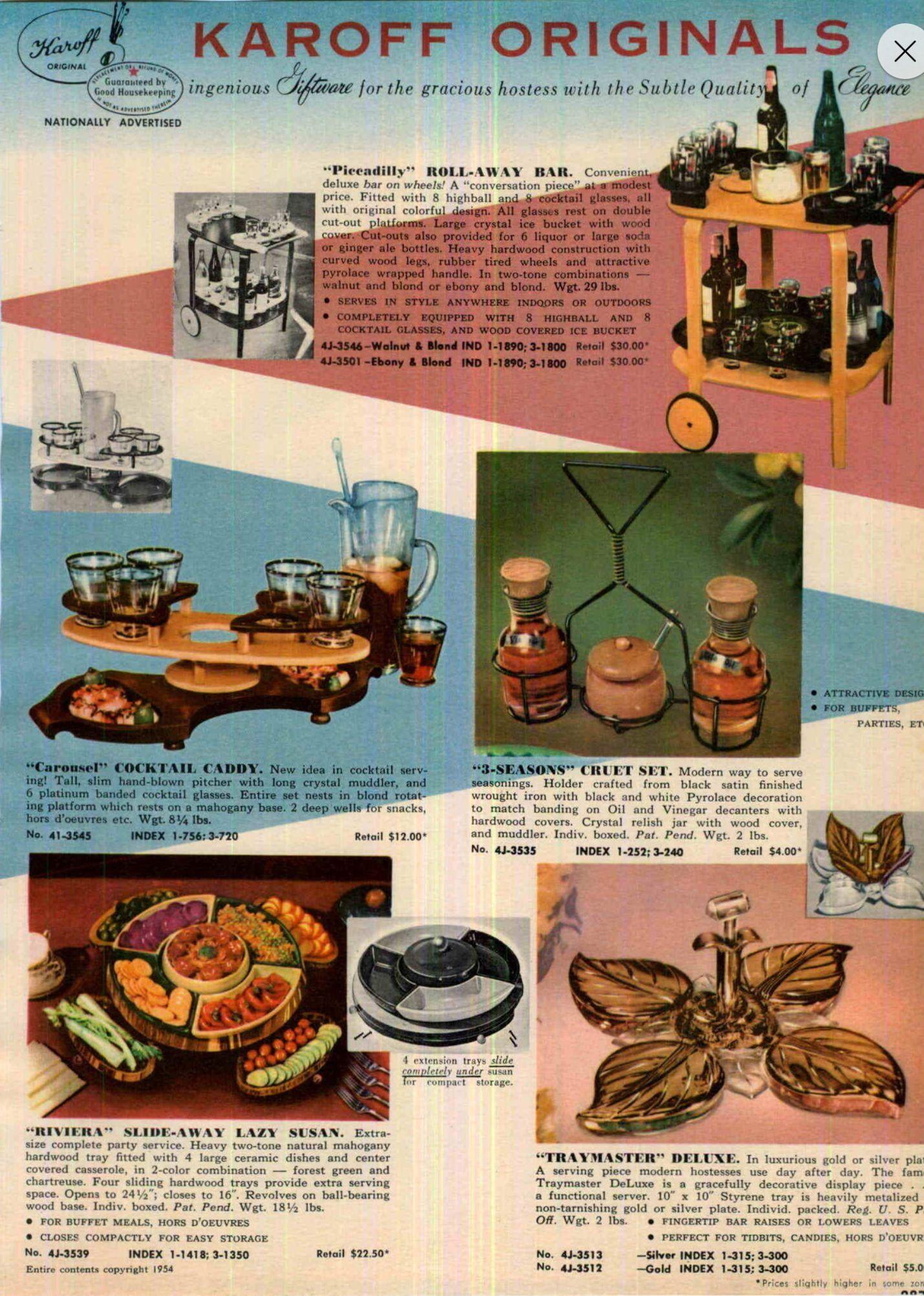 Vintage catalog advertisement for Karoff Originals  | Vintage