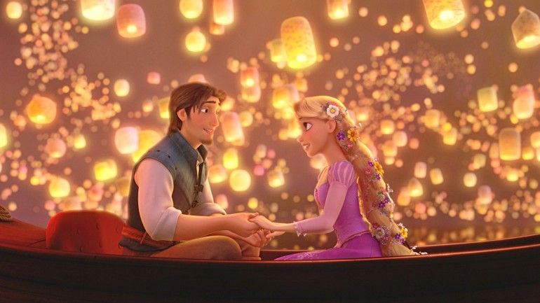 Rapunzel And Flynn Tangled Wallpaper