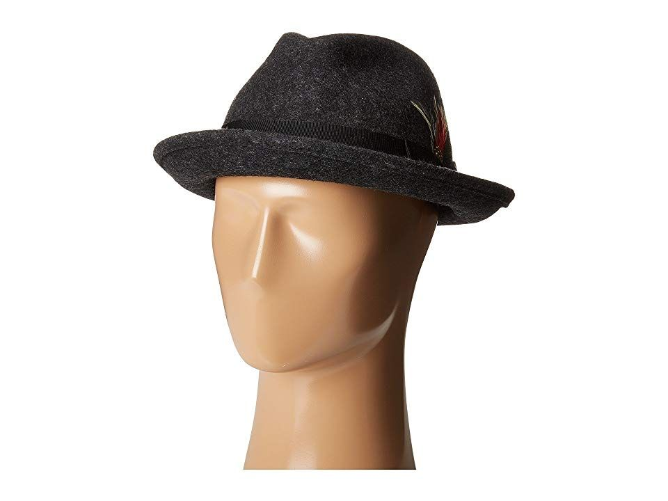 a965d4e81df63 SCALA All Season Snap Brim with Grosgrain Band (Charcoal) Traditional Hats.  Keep your look classically sharp with this fedora from Scala!
