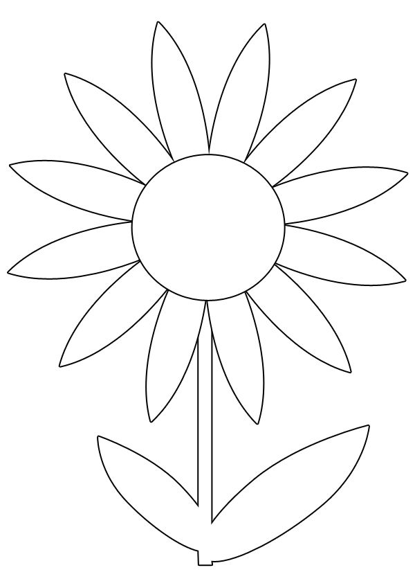 Free Spring Flower Printable Coloring Image Flower