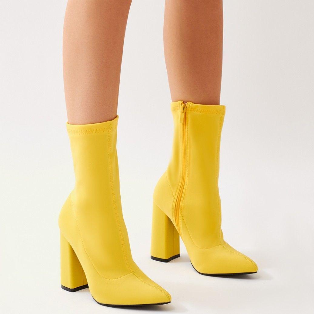 Yellow Heel Boots