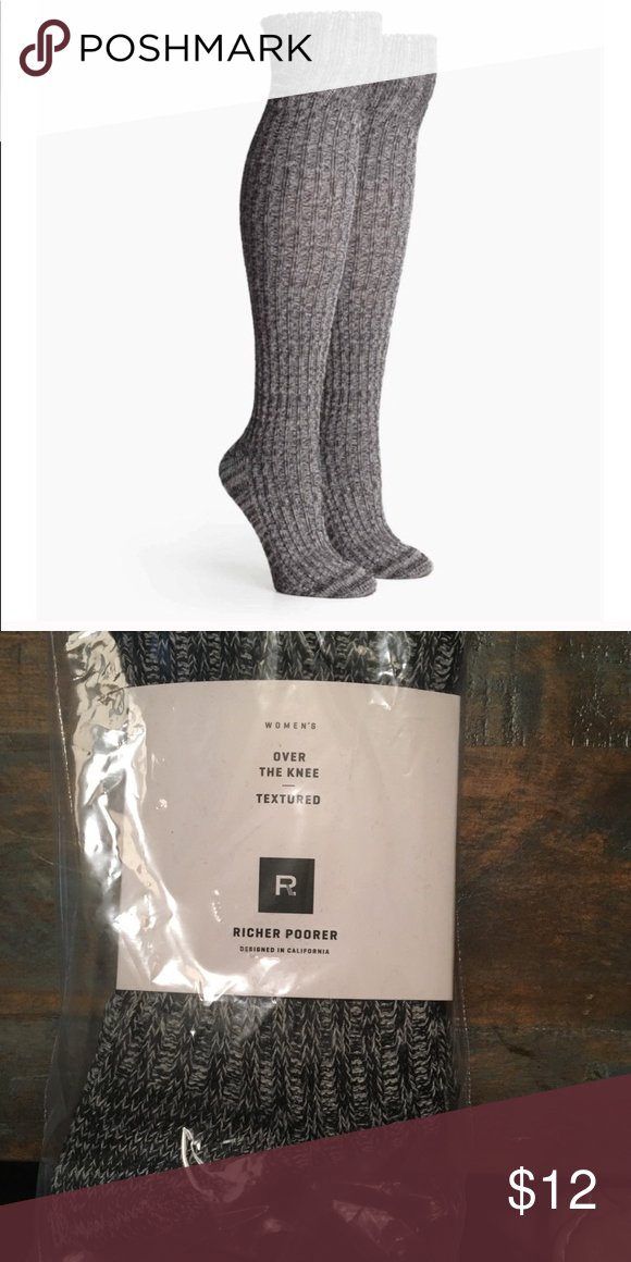 9ec0560f047 Richer Poorer over the knee socks Brand new in package FitFabFun winter  2018 box Richer Poorer Reina over the knee textured socks Equally cute and  cozy the ...