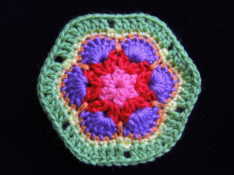 Crochet : Flor Africana 1 | Crochet y más / videos | Pinterest ...