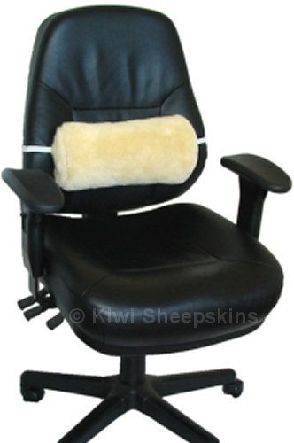 back support office chair design sheepskin lumbar roll