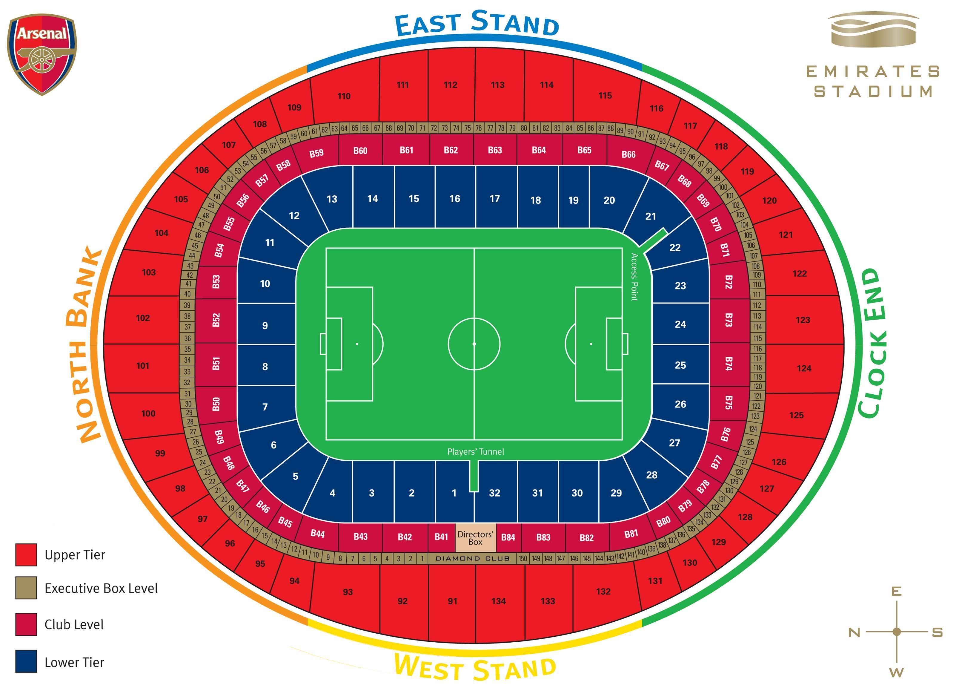The Emirates Stadium Plans London England Seating Plan Arsenal Stadium Stadium