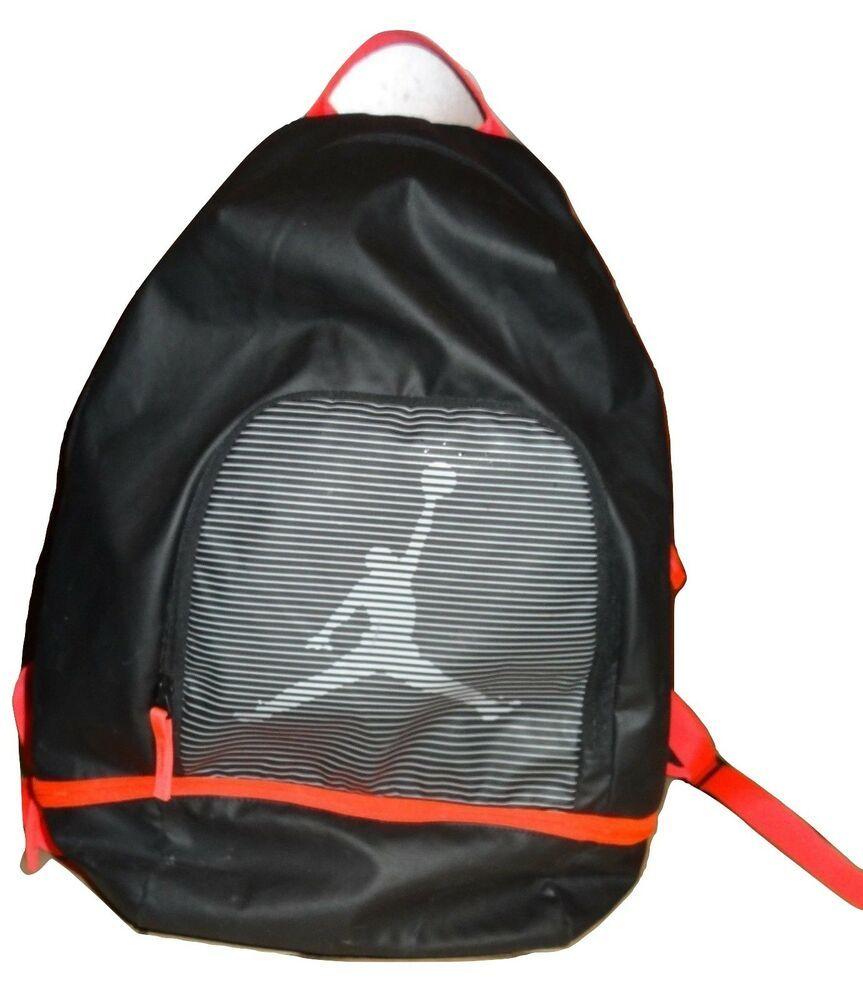 26aa9a9061 Nike Air Jordan Jumpman Graphic Backpack Infrared   Wolf Grey 656910-010  EUC KH