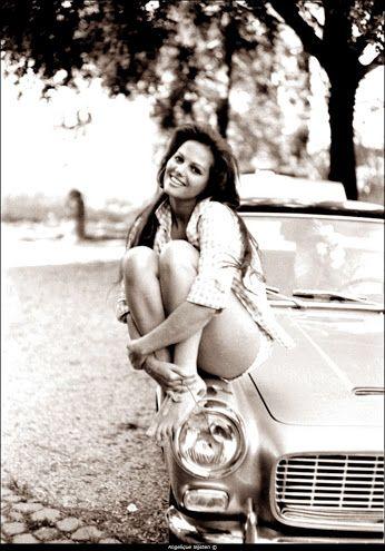 Claudia Cardinale and a Lancia Flaminia.
