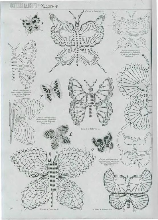Butterflies, Free pattern | Crochet Blogs | Pinterest ...
