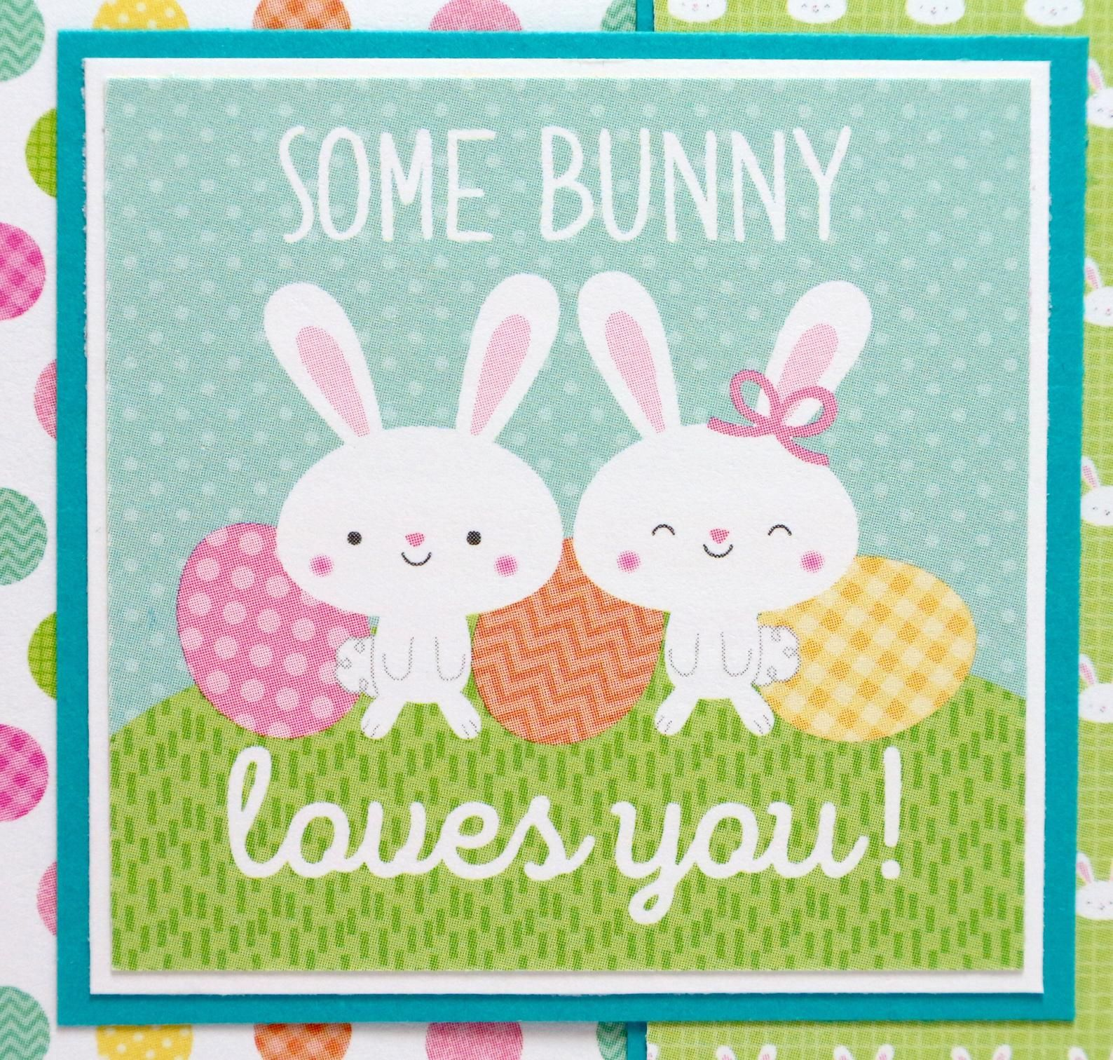 Easter bunny card some bunny loves you kids easter card