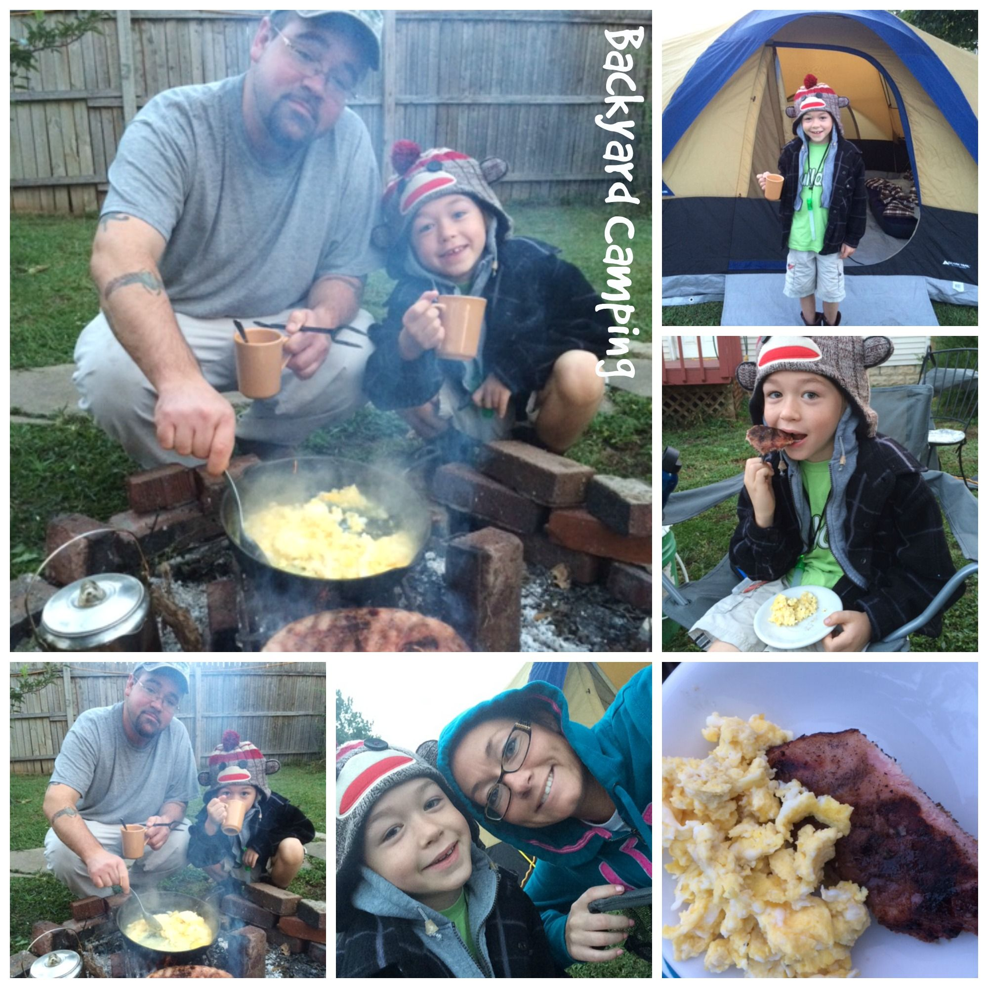 Nothing like camping in the back yard on a cold day near a ...