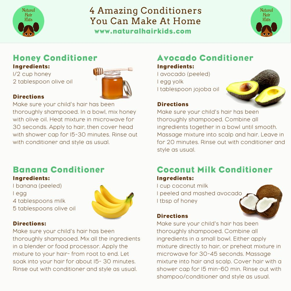 Make Your Own Natural Hair Conditioner For Kids Natural Hair Conditioner Natural Hair Styles Diy Hair Conditioner