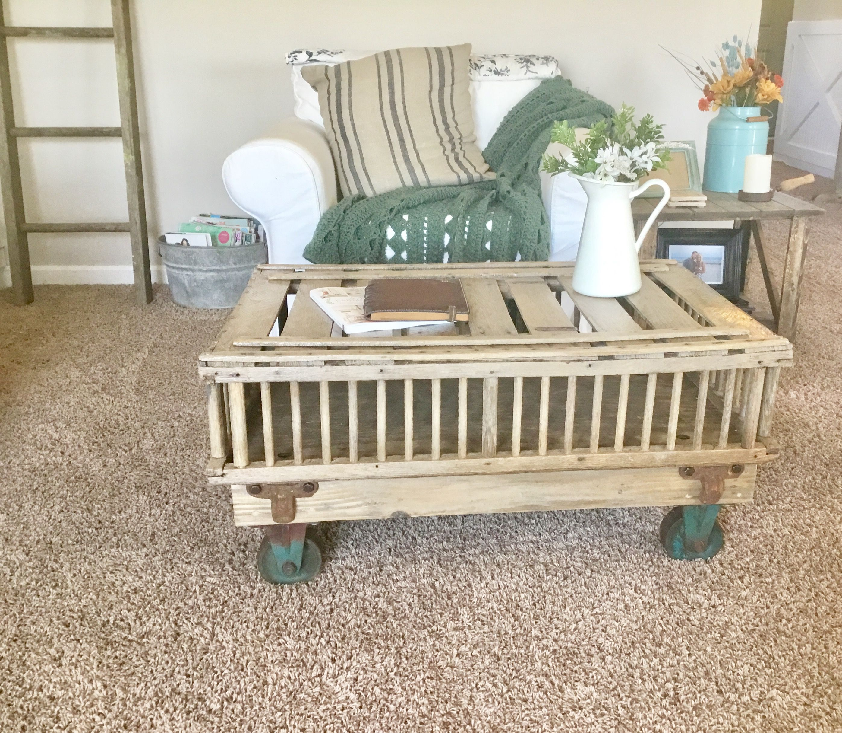 Chicken Coop Coffee Table We Just Finshed