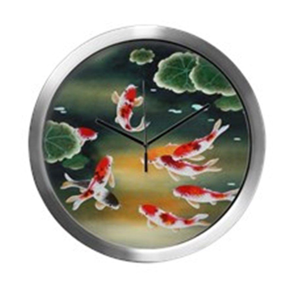Koi fish and lotus flower cool modern wall clock see more this fish art izmirmasajfo
