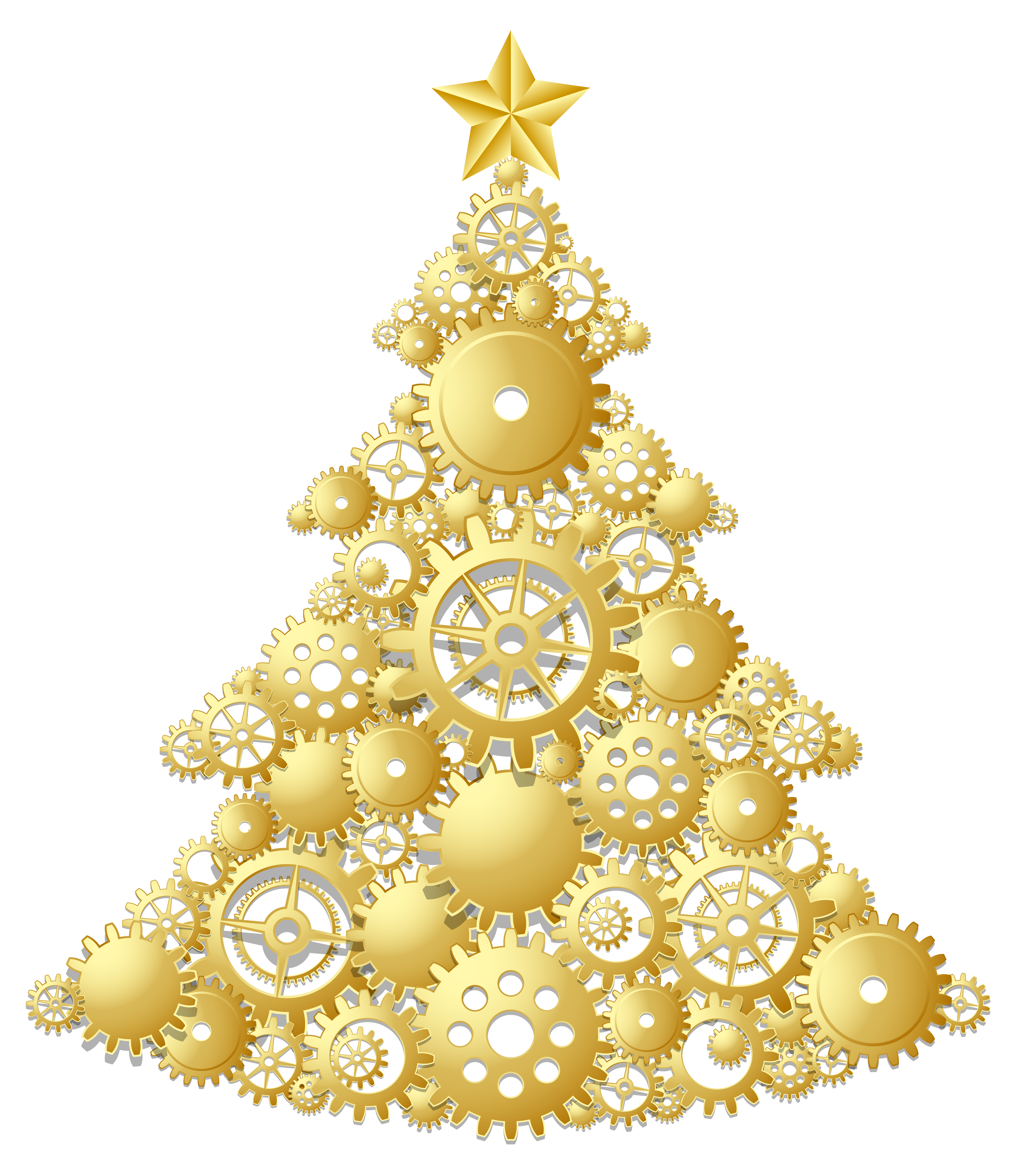 Gold Steampunk Christmas Tree Png Clipart Steampunk Christmas Steampunk Christmas Tree Steampunk Christmas Decorations