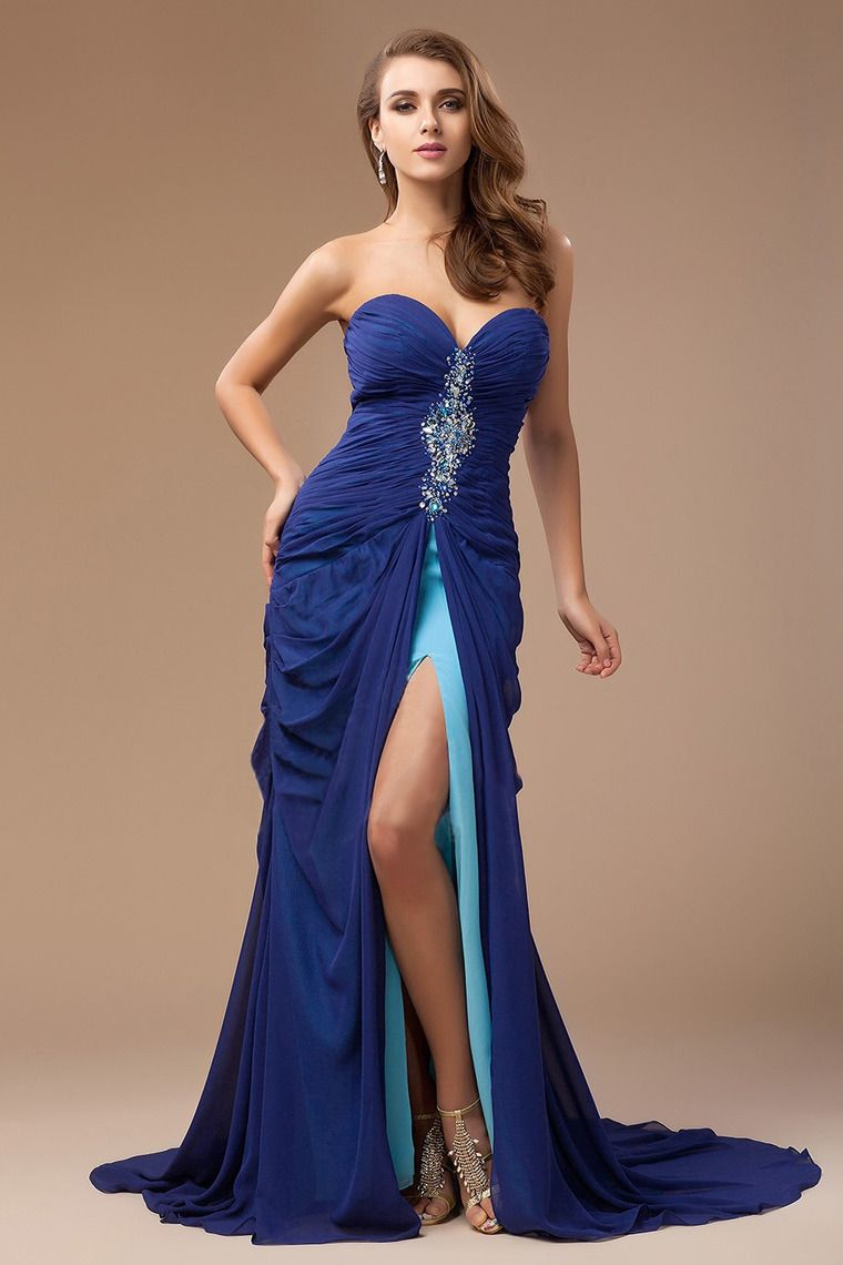 Shop new arrival prom sweetheart sheath with ruffles beads online