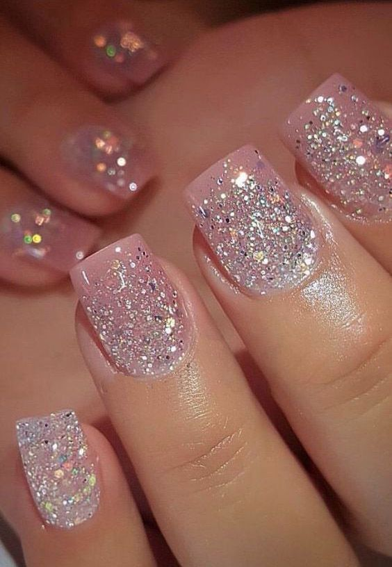 Attractive Nail Ideas Light Up The Summer Passion Pink Glitter Nails Nails Pink Nails