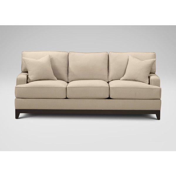 ethan allen arcata sofa cayman bone 1 869 liked on polyvore rh pinterest com  ethan allen furniture sofa reviews