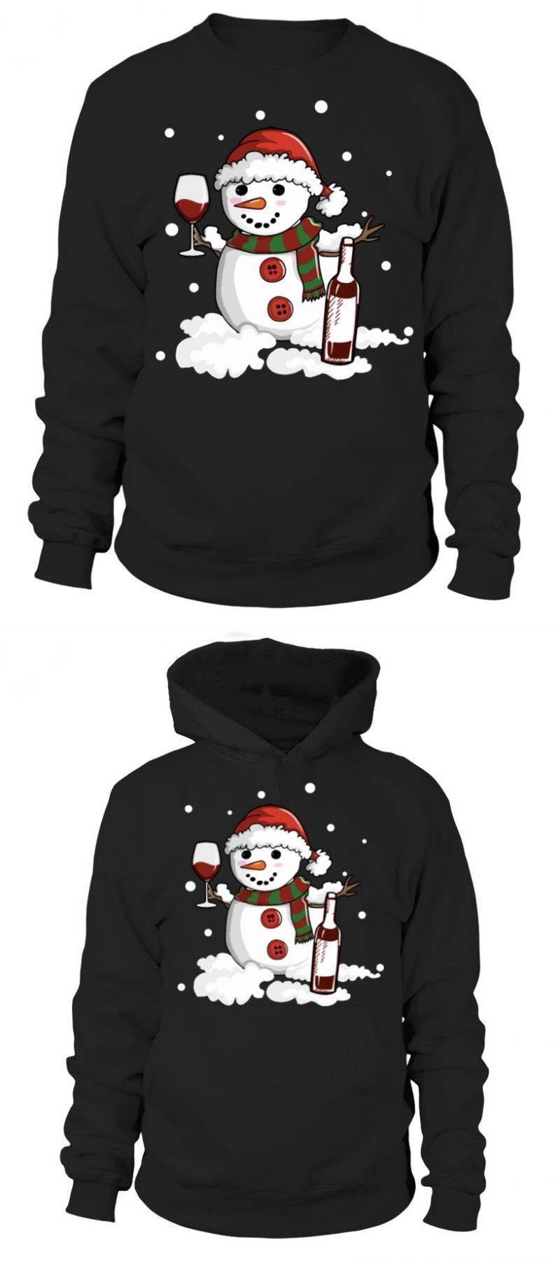Snowman Love Wine Drink Ugly Christmas Sweater Father Son T Shirt