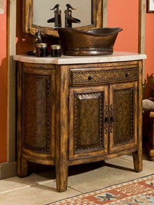 rustico single vessel sink bath vanity