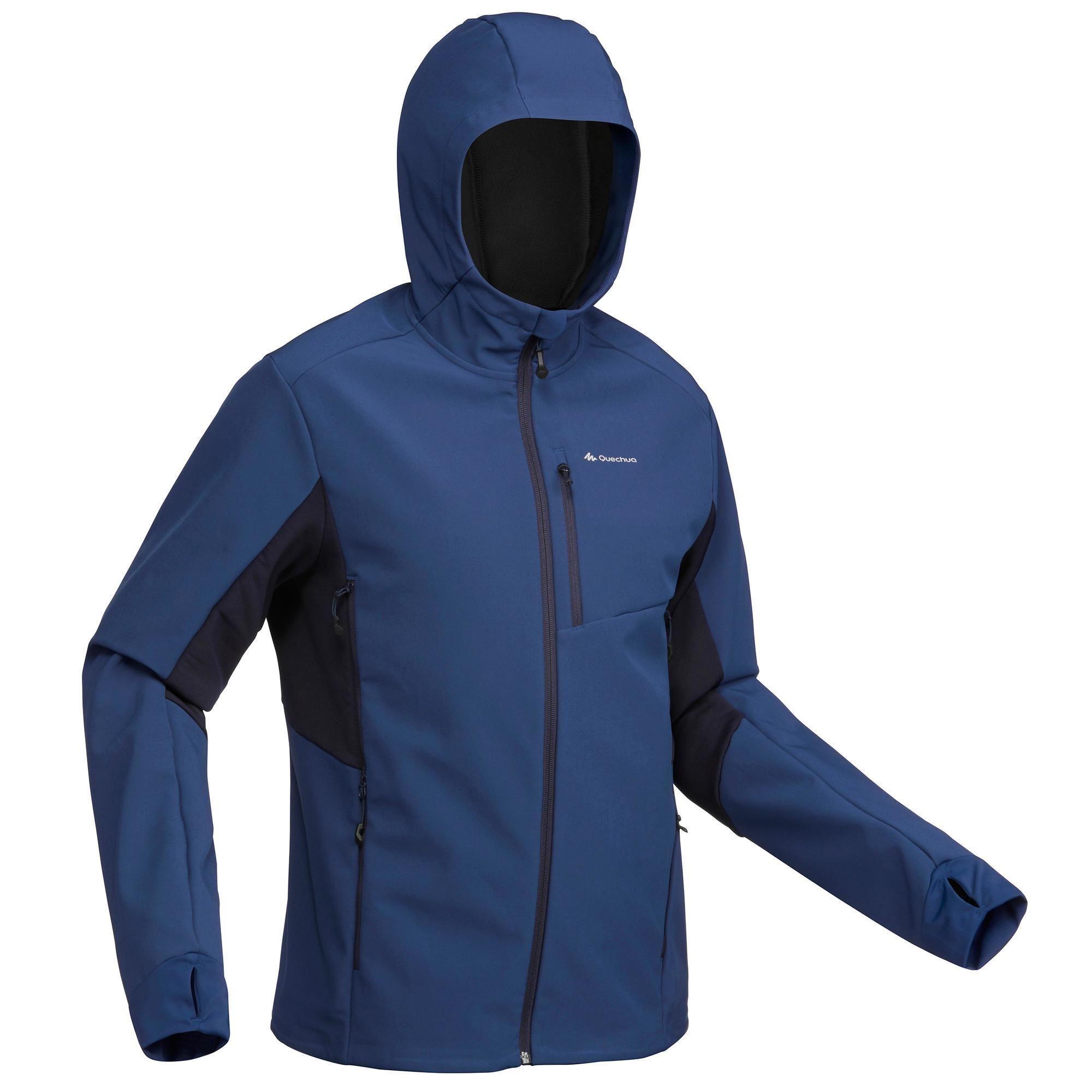 Softshelljacke Trek 500 Windwarm Herren Blau Herren Outfit Softshell Jacke Manner Mode