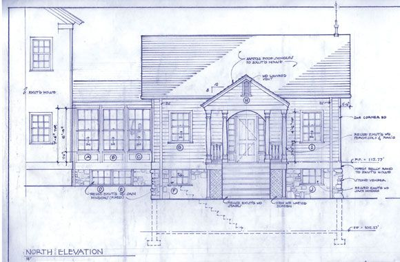 Photograph of cutaway house with some home inspection topics shown - new house blueprint esl